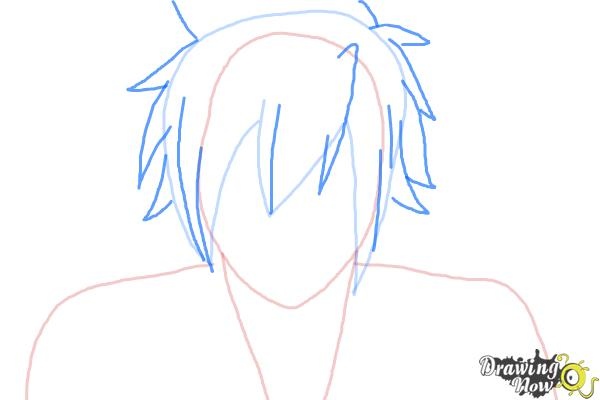How to Draw Mystogan from Fairy Tail - Step 4