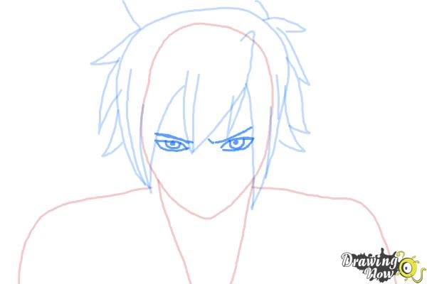 How to Draw Mystogan from Fairy Tail - Step 5