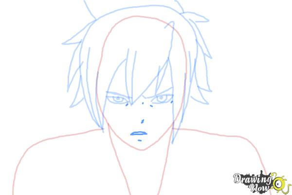 How to Draw Mystogan from Fairy Tail - Step 6
