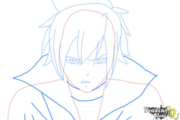 How to Draw Mystogan from Fairy Tail - Step 7