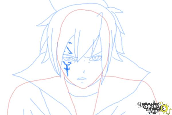 How to Draw Mystogan from Fairy Tail - Step 8
