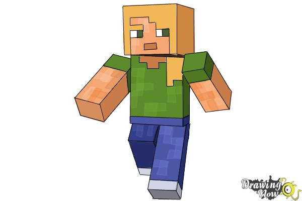 How To Draw Alex From Minecraft Drawingnow