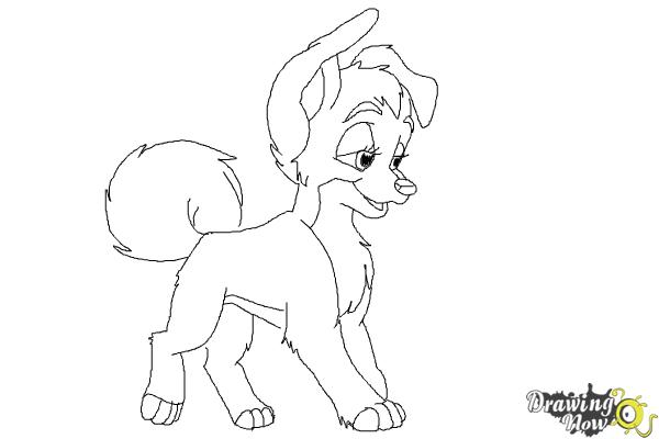 How to Draw Angel from Lady And The Tramp - Step 9