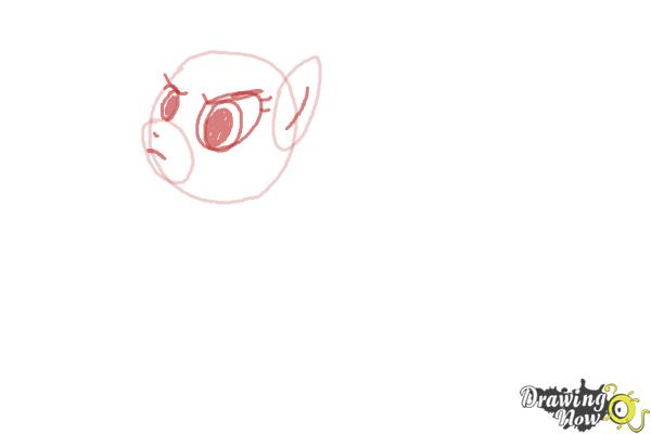 How to Draw Applejack, Mistress Mare-Velous from Power Ponies - Step 2