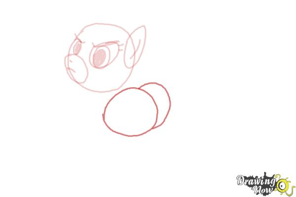 How to Draw Applejack, Mistress Mare-Velous from Power Ponies - Step 3