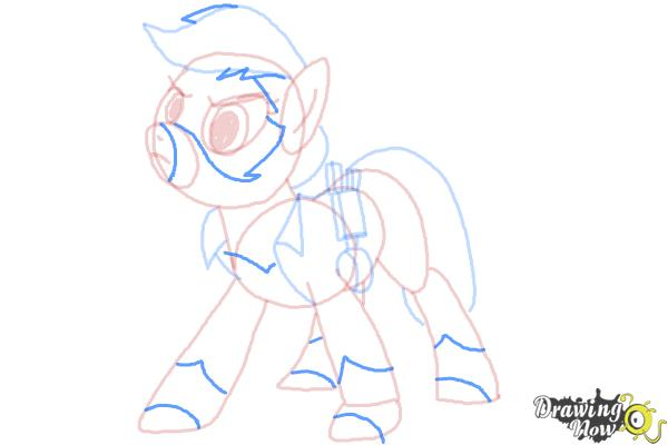 How to Draw Applejack, Mistress Mare-Velous from Power Ponies - Step 8