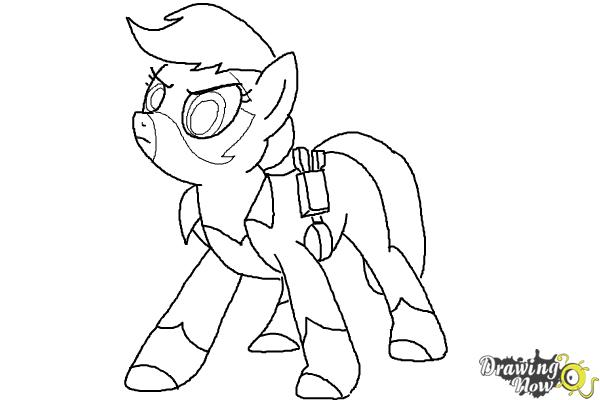How To Draw Applejack Mistress Mare Velous From Power Ponies
