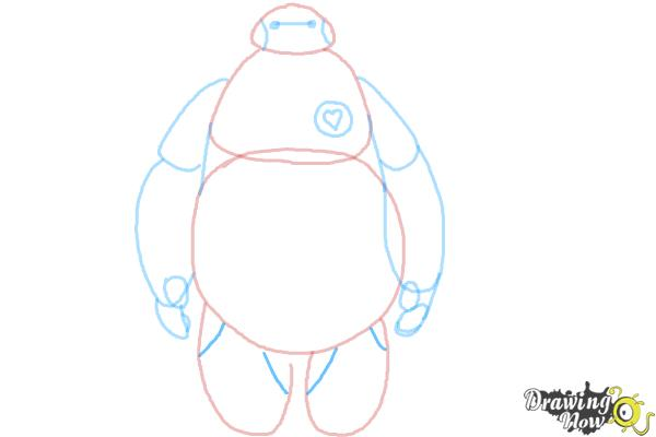 How to Draw Baymax Easy - Step 8