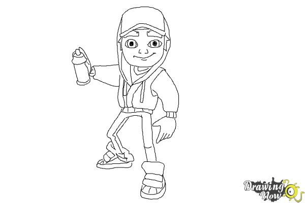 How to draw jake from subway surfers drawingnow for Subway surfers coloring pages