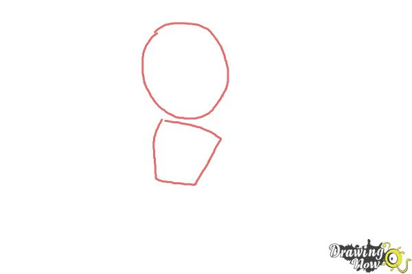 How to Draw Tricky from Subway Surfers - Step 1