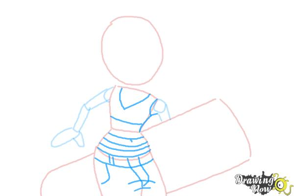 How to Draw Tricky from Subway Surfers - Step 5