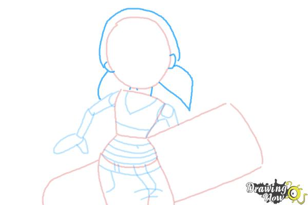 How to Draw Tricky from Subway Surfers - Step 6