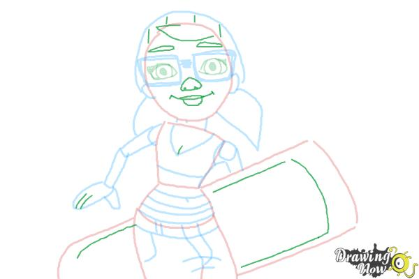 How to Draw Tricky from Subway Surfers - Step 8