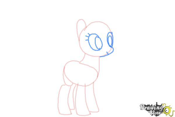 How to Draw Rainbow Dash, Zapp from Power Ponies - Step 4