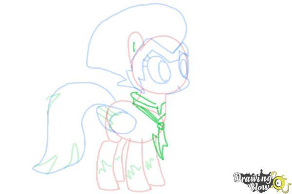 How to Draw Rainbow Dash, Zapp from Power Ponies - Step 8