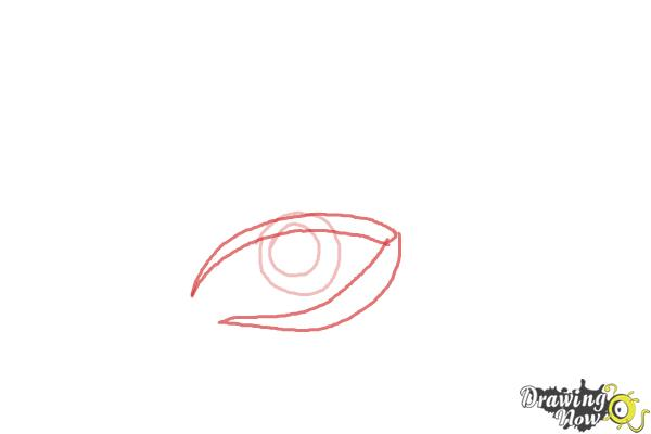 How to Draw a Tribal Eye - Step 2