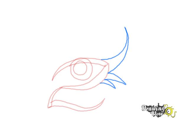 How to Draw a Tribal Eye - Step 4