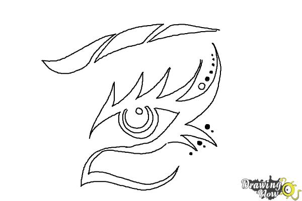 How to Draw a Tribal Eye - Step 8