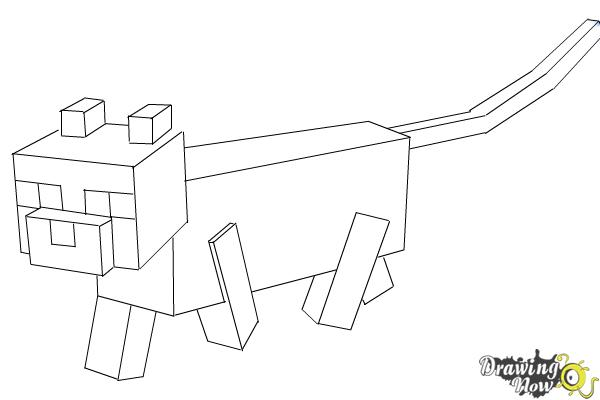 How to Draw an Ocelot from Minecraft - Step 10
