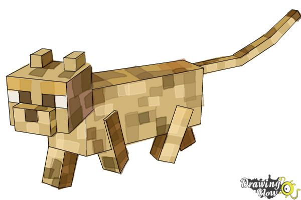 How to Draw an Ocelot from Minecraft - Step 11