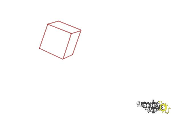 How to Draw a Mooshroom from Minecraft - Step 1