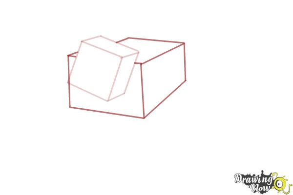 How to Draw a Mooshroom from Minecraft - Step 2