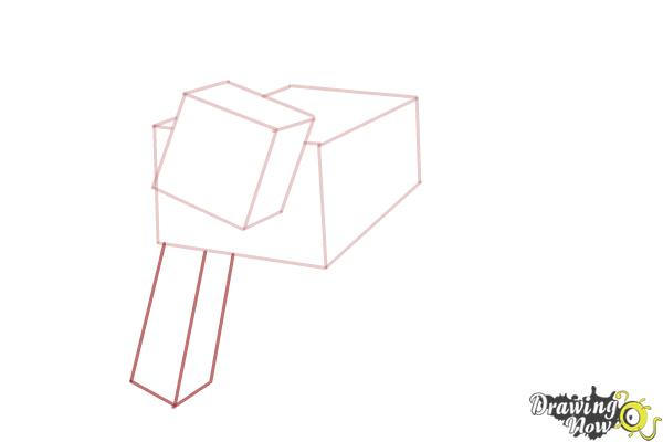 How to Draw a Mooshroom from Minecraft - Step 3