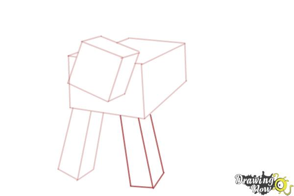 How to Draw a Mooshroom from Minecraft - Step 4