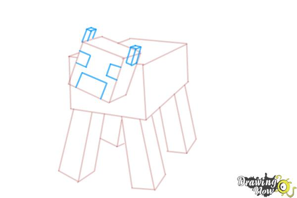 How to Draw a Mooshroom from Minecraft - Step 6