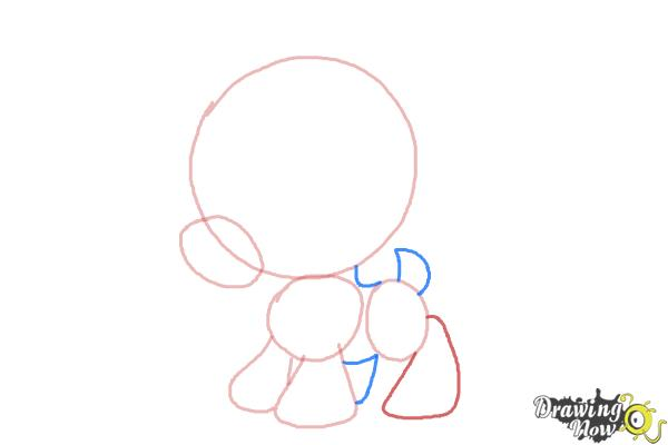 How to Draw Chibi Sven from Frozen - Step 3