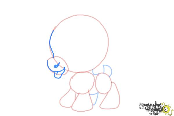 How to Draw Chibi Sven from Frozen - Step 4