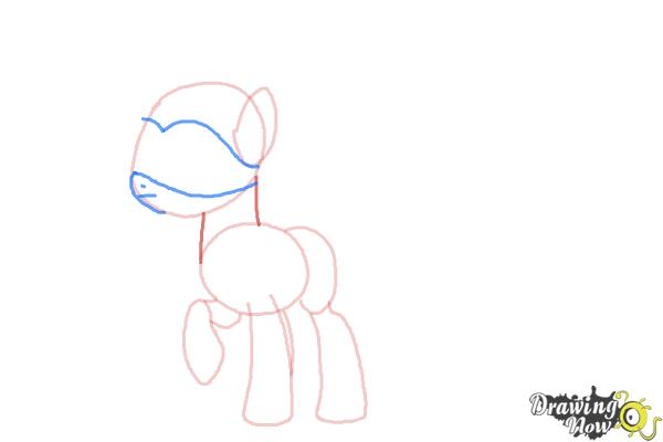 How to Draw Fluttershy, Saddle Rager from Power Ponies - Step 5