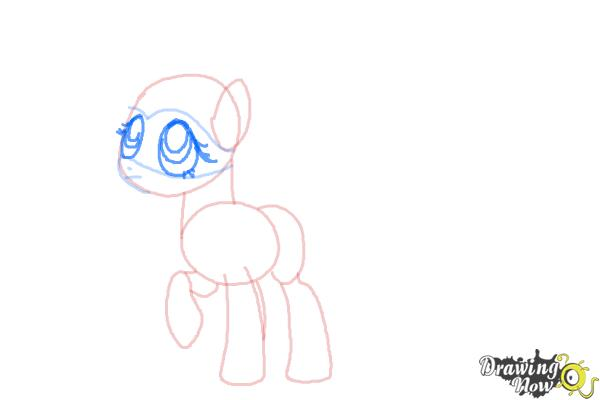 How to Draw Fluttershy, Saddle Rager from Power Ponies - Step 6