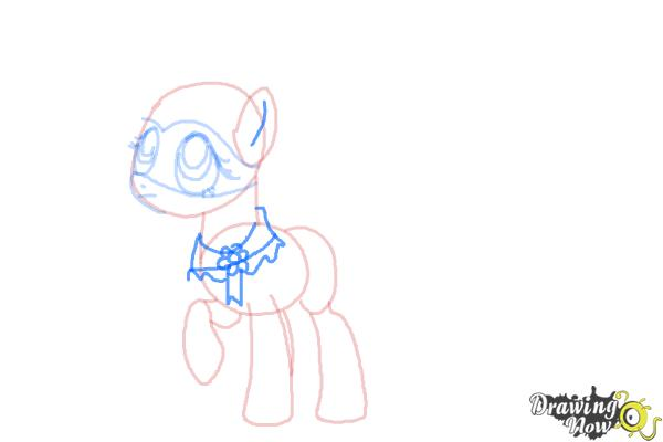 How to Draw Fluttershy, Saddle Rager from Power Ponies - Step 7