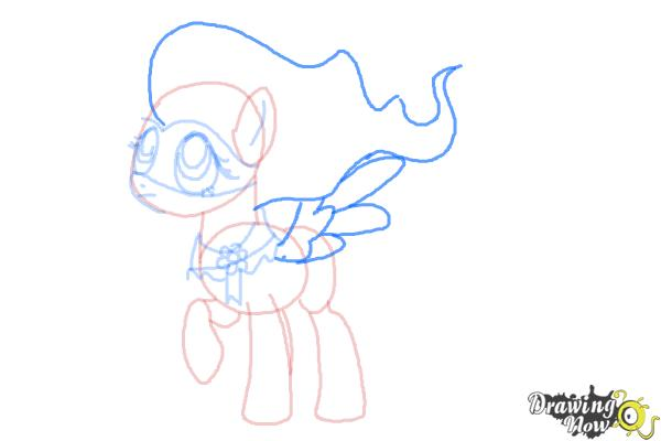 How to Draw Fluttershy, Saddle Rager from Power Ponies - Step 8