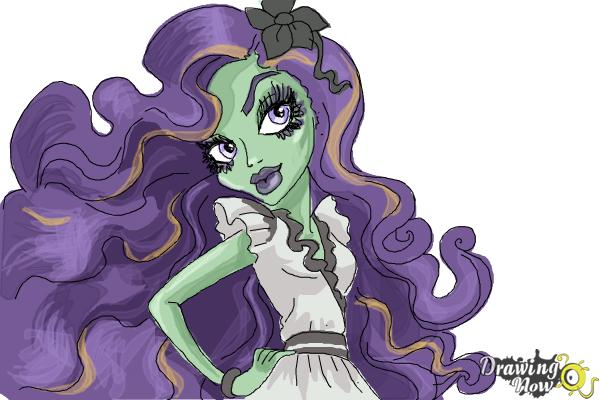 How to Draw Amanita Nightshade from Monster High - Step 10