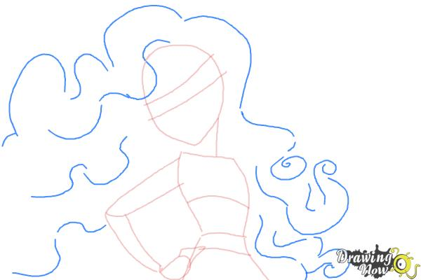 How to Draw Amanita Nightshade from Monster High - Step 5