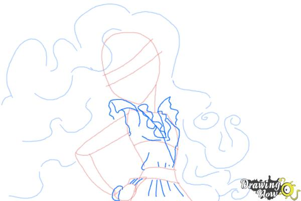 How to Draw Amanita Nightshade from Monster High - Step 6