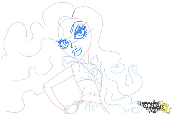 How to Draw Amanita Nightshade from Monster High - Step 7