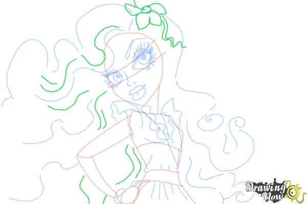 How to Draw Amanita Nightshade from Monster High - Step 8