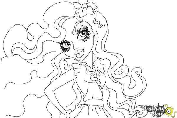 How to Draw Amanita Nightshade from Monster High - Step 9