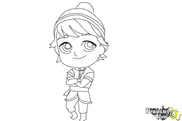 How to Draw Chibi Kristoff from Frozen - Step 10