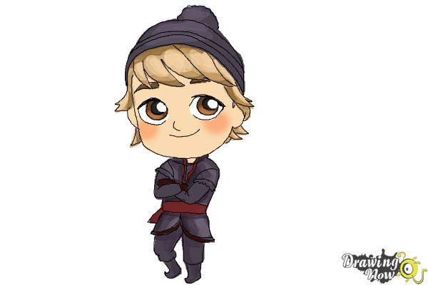 How to Draw Chibi Kristoff from Frozen - Step 11