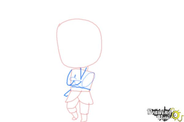 How to Draw Chibi Kristoff from Frozen - Step 6