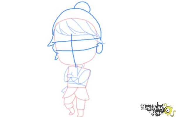 How to Draw Chibi Kristoff from Frozen - Step 8