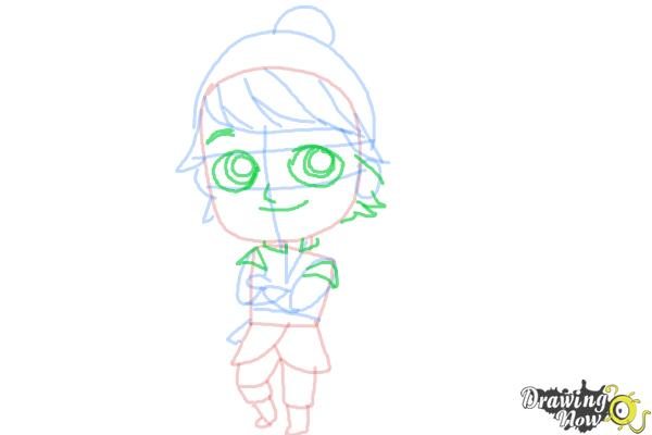 How to Draw Chibi Kristoff from Frozen - Step 9