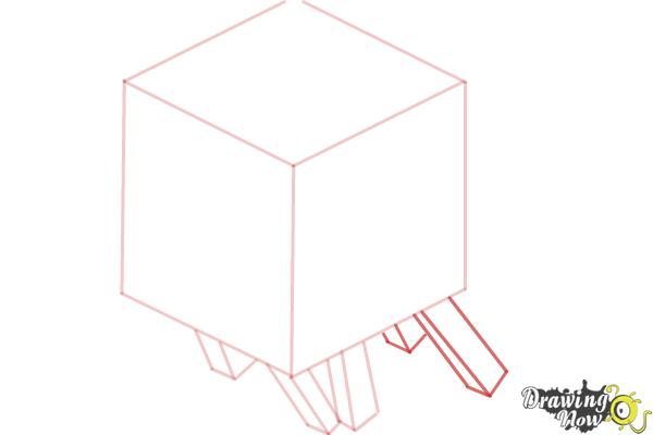 How to Draw a Ghast from Minecraft - Step 4