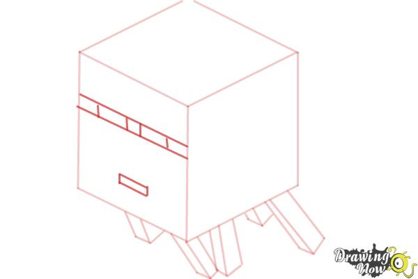 How to Draw a Ghast from Minecraft - Step 5