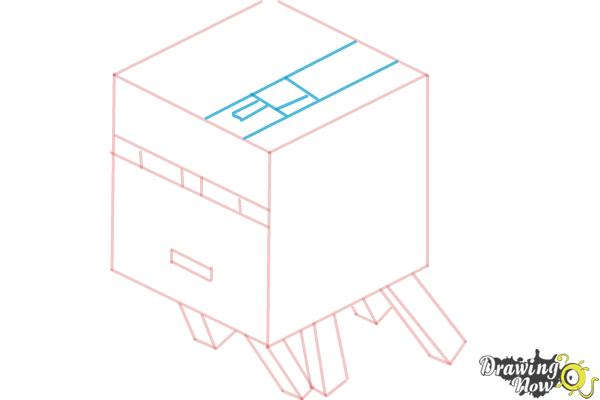 How to Draw a Ghast from Minecraft - Step 6