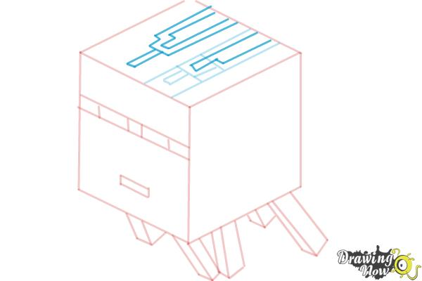 How to Draw a Ghast from Minecraft - Step 7